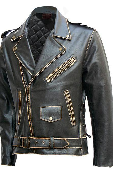 Ride To Live, Live To Ride Eagle Vintage Leather Jacket